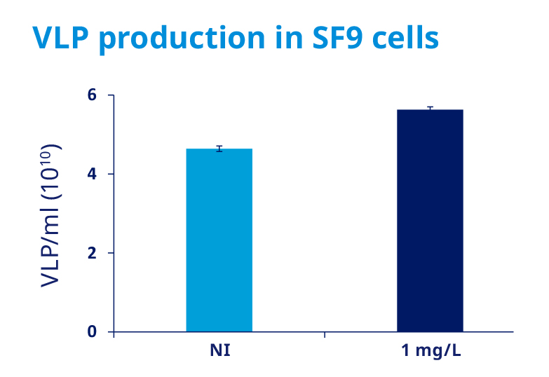 VLP production in SF9 cells